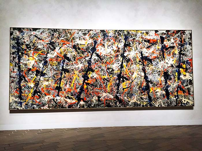 Синие столбы, 1952 - Джексон Поллок абстракционизм