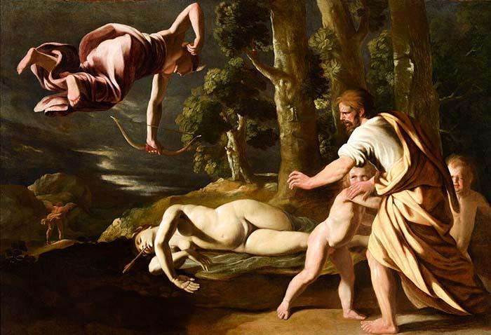 Смерть Хионе (1622) - Никола Пуссен Артемида