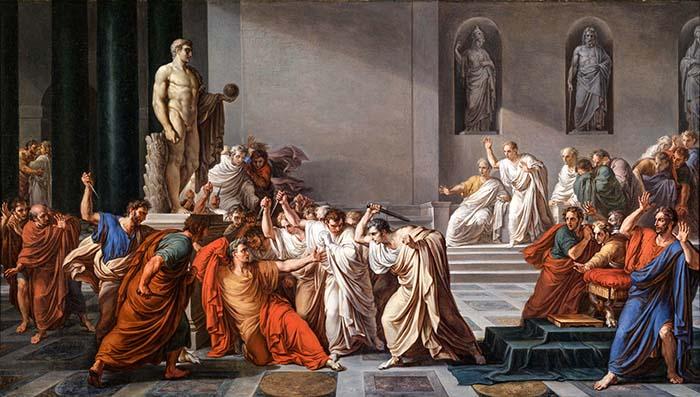 Смерть Юлия Цезаря, изображенная Винченцо Камуччини
