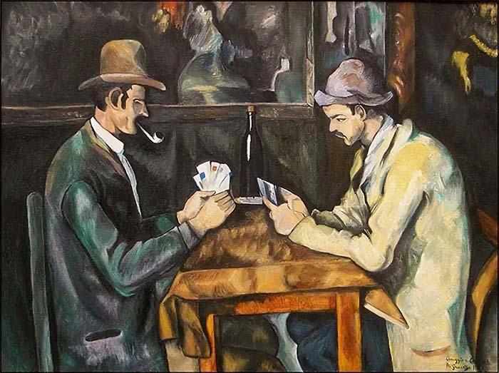 Игроки в карты Поля Сезанна Постимпрессионистские художники