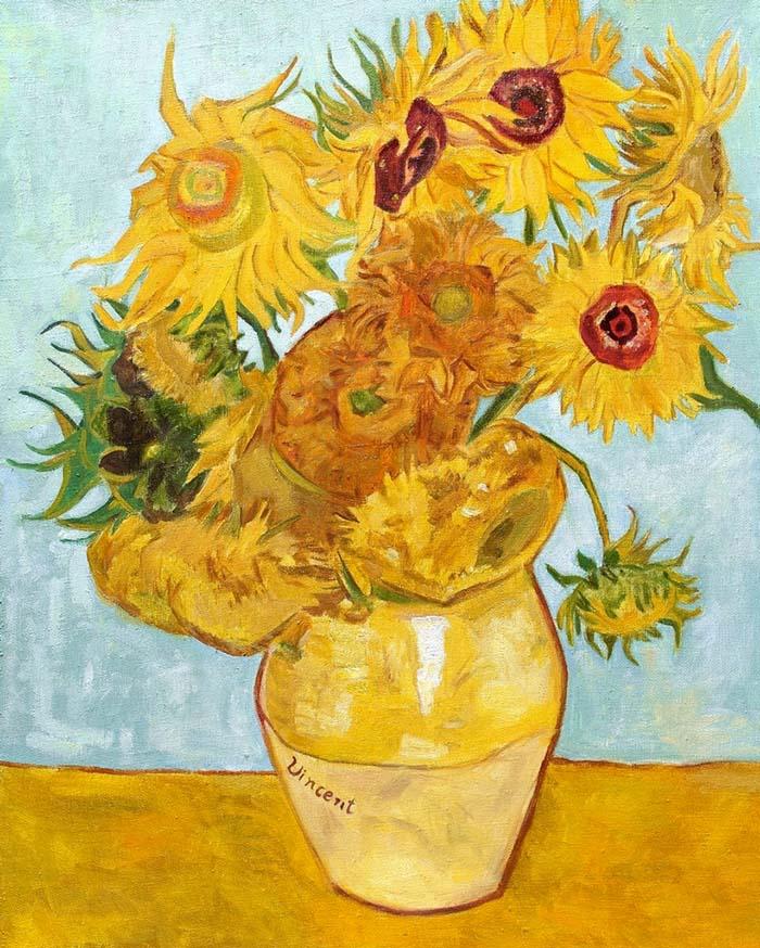 Подсолнухи от Винсента Ван Гога Постимпрессионистские художники
