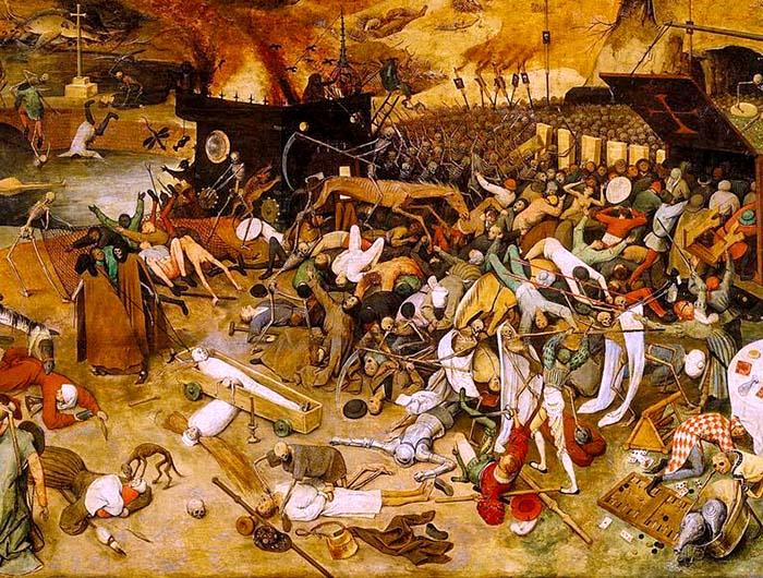Триумф смерти - картина 1562 года Питера Брейгеля Старшего бубонная чума