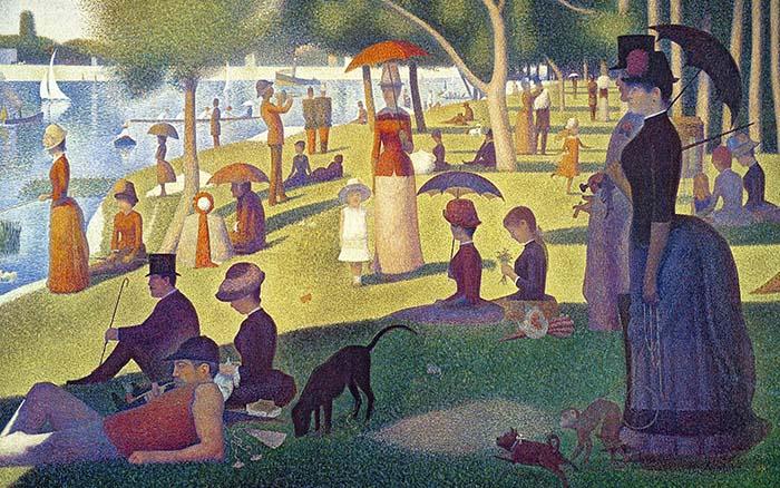 Воскресный полдень на острове Ла Гранд-Жатт, Жоржа Сёра Постимпрессионистские художники