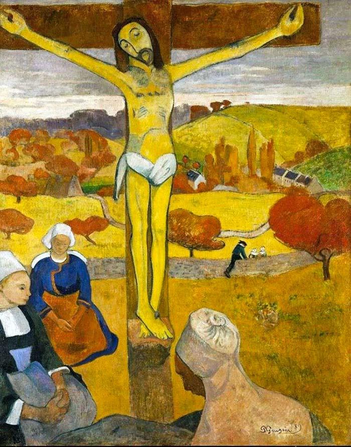 Желтый Христос Поля Гогена Постимпрессионистские художники
