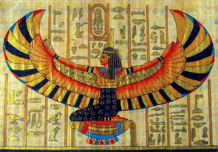 Изображение древнеегипетской богини Исиды