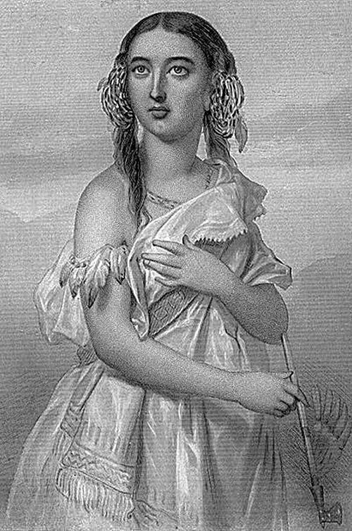 Изображение Покахонтас XIX века