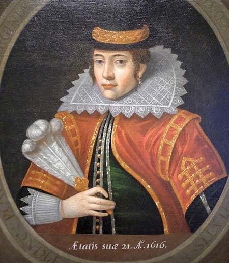 Покахонтас - Картина по гравюре 1616 года
