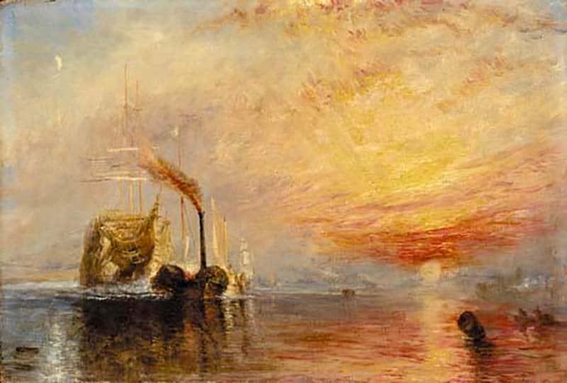 «Боевой Темерар» отошел к последнему причалу, чтобы быть разбитым на куски (1839 г.) - Дж. М. У. Тернер
