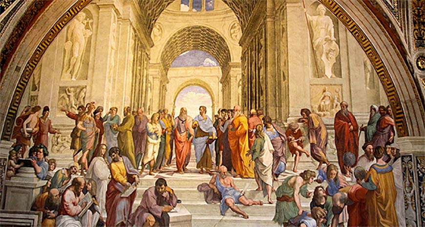 Изображение Платона в его академии