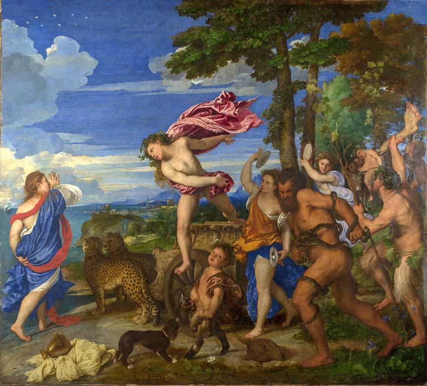 Вакх и Ариадна (1523) - Тициан