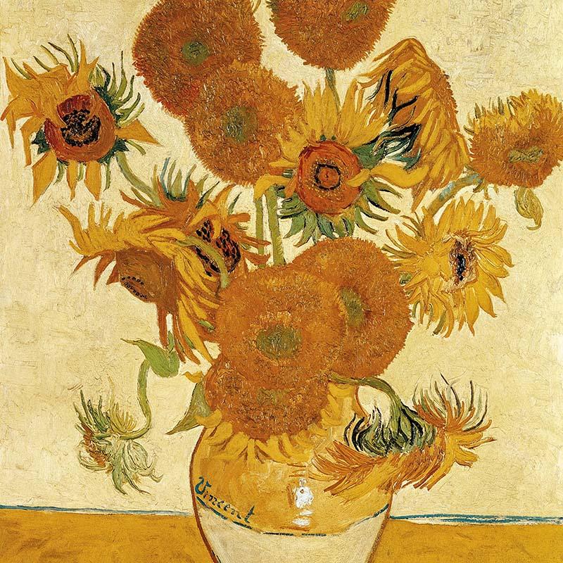 Ваза с четырнадцатью подсолнухами (1888) - Винсент Ван Гог национальная галерея