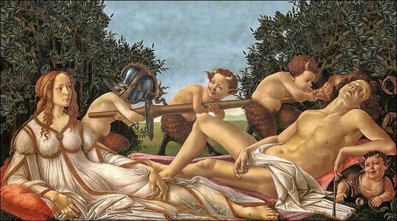 Венера и Марс (1485) - Сандро Боттичелли национальная галерея