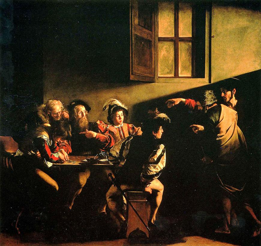 Призвание святого Матфея (1600) - Караваджо