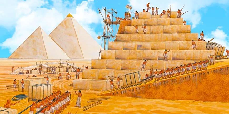 Строительство Пирамиды Гизы