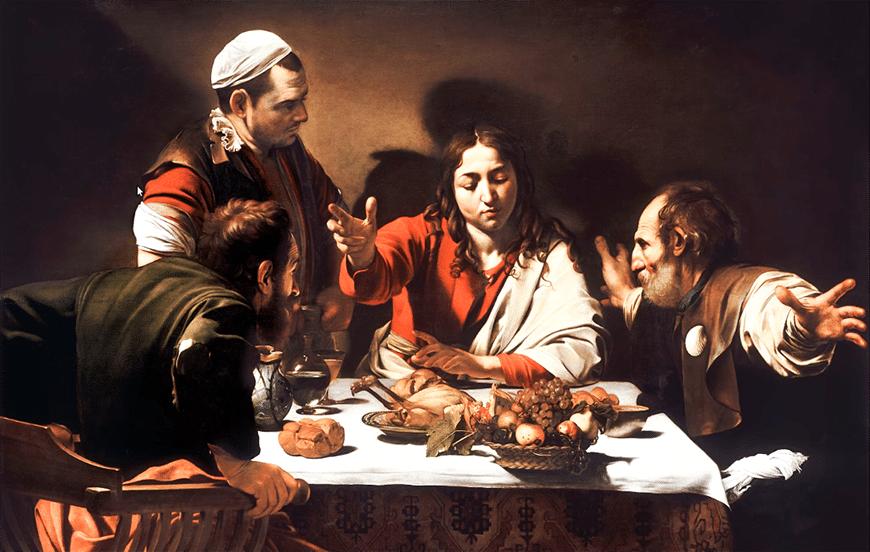 Ужин в Эммаусе (1601 г.) - Караваджо иисус христос