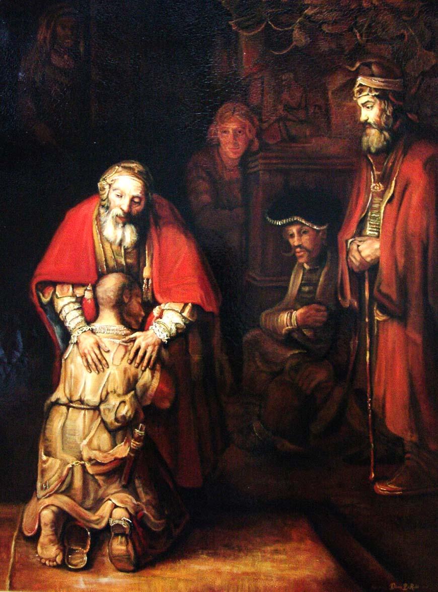 Возвращение блудного сына (1669) - Рембрандт ван Рейн Барокко