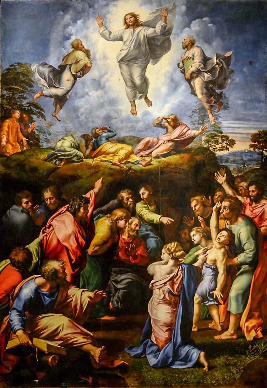 Преображение (1520) - Рафаэль иисус христос