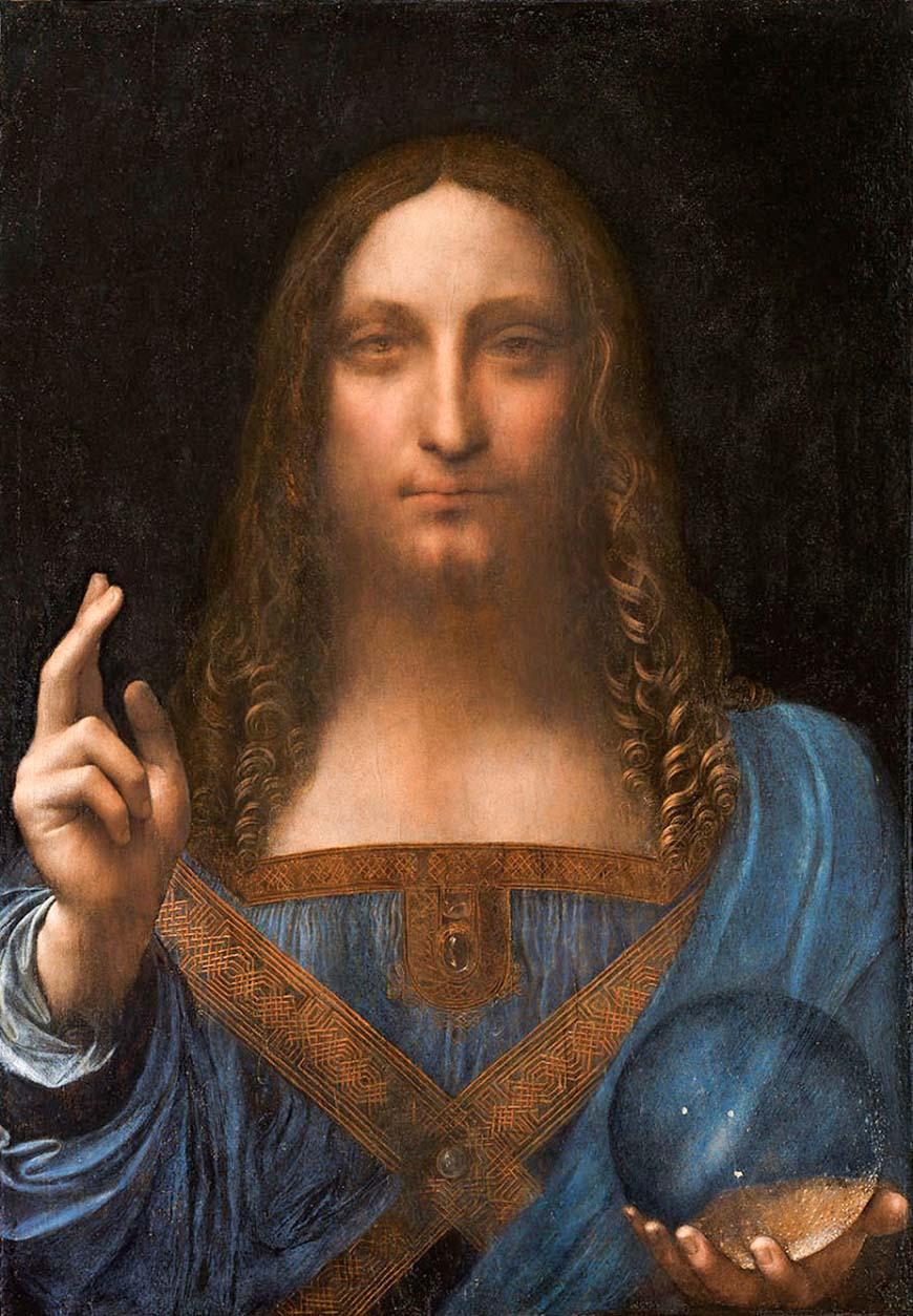 Спаситель мира (1500) - Леонардо да Винчи иисус христос
