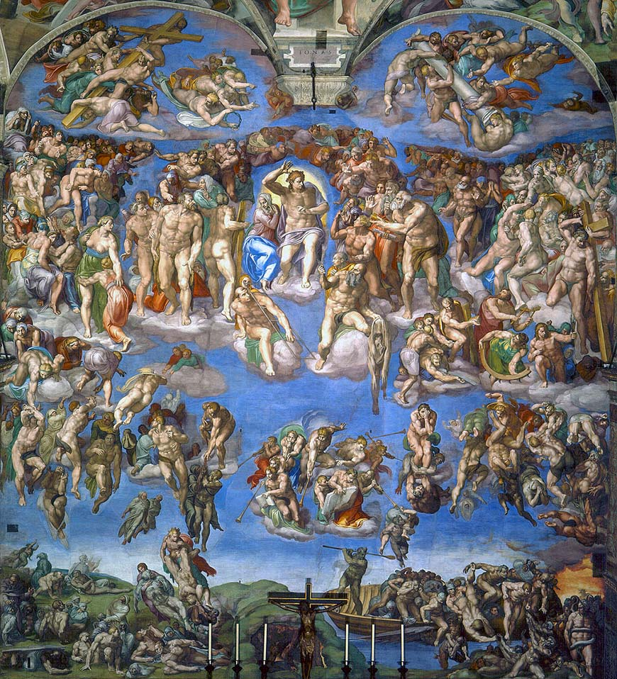 Страшный суд (1541) - Микеланджело иисус христос