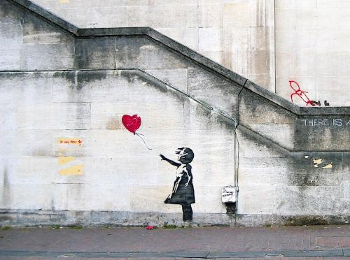 Девочка с воздушным шаром (2002) - Бэнкси Современное искусство
