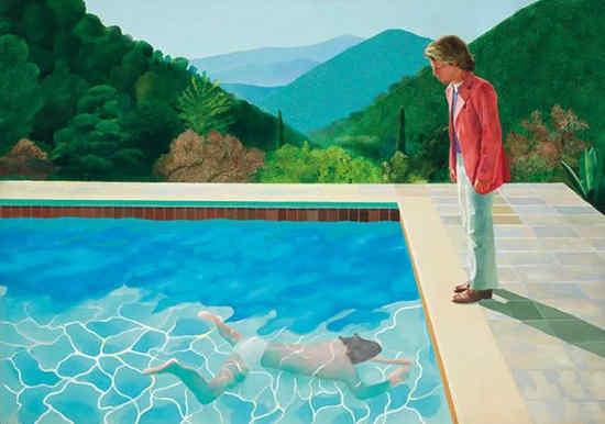 Портрет художника (бассейн с двумя фигурами) (1972) - Дэвид Хокни